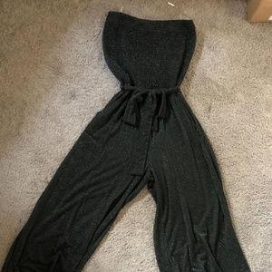 S-Twelve Black Sparkle Jumpsuit